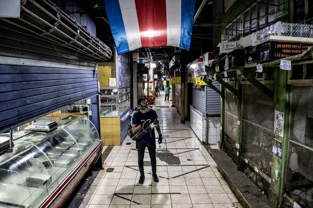 Central Market disinfected
