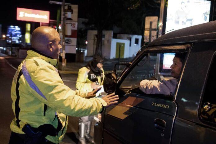 Traffic checks during the COVID-19 pandemic