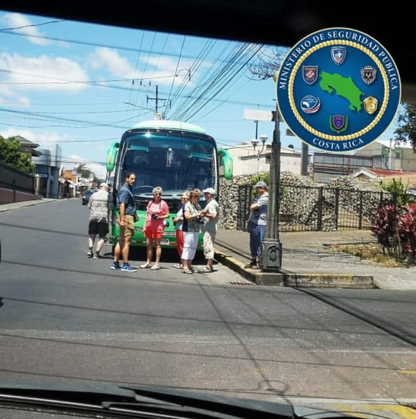 Tourists stopped in Cartago