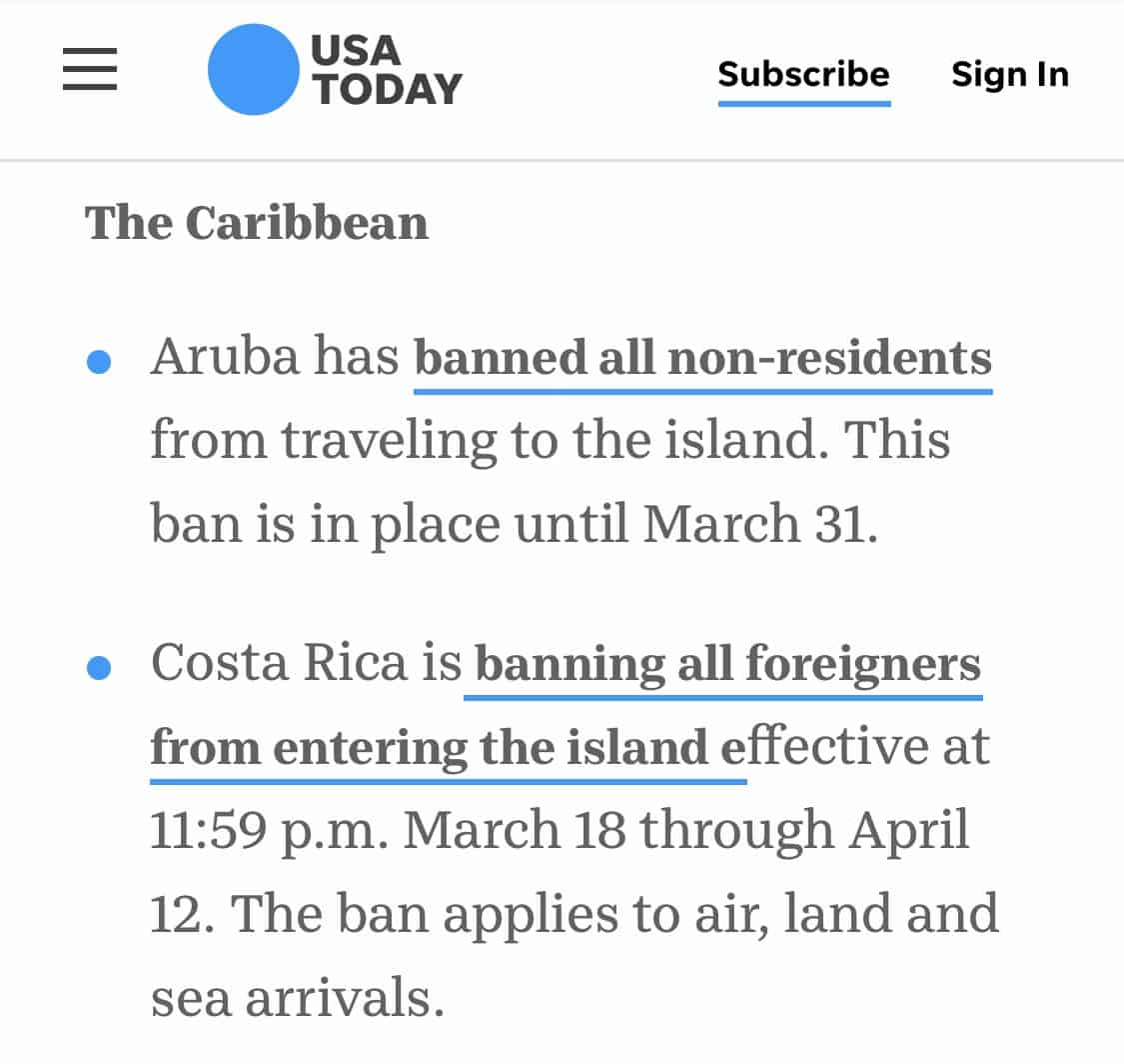 USA Today thinks Costa Rica is an island