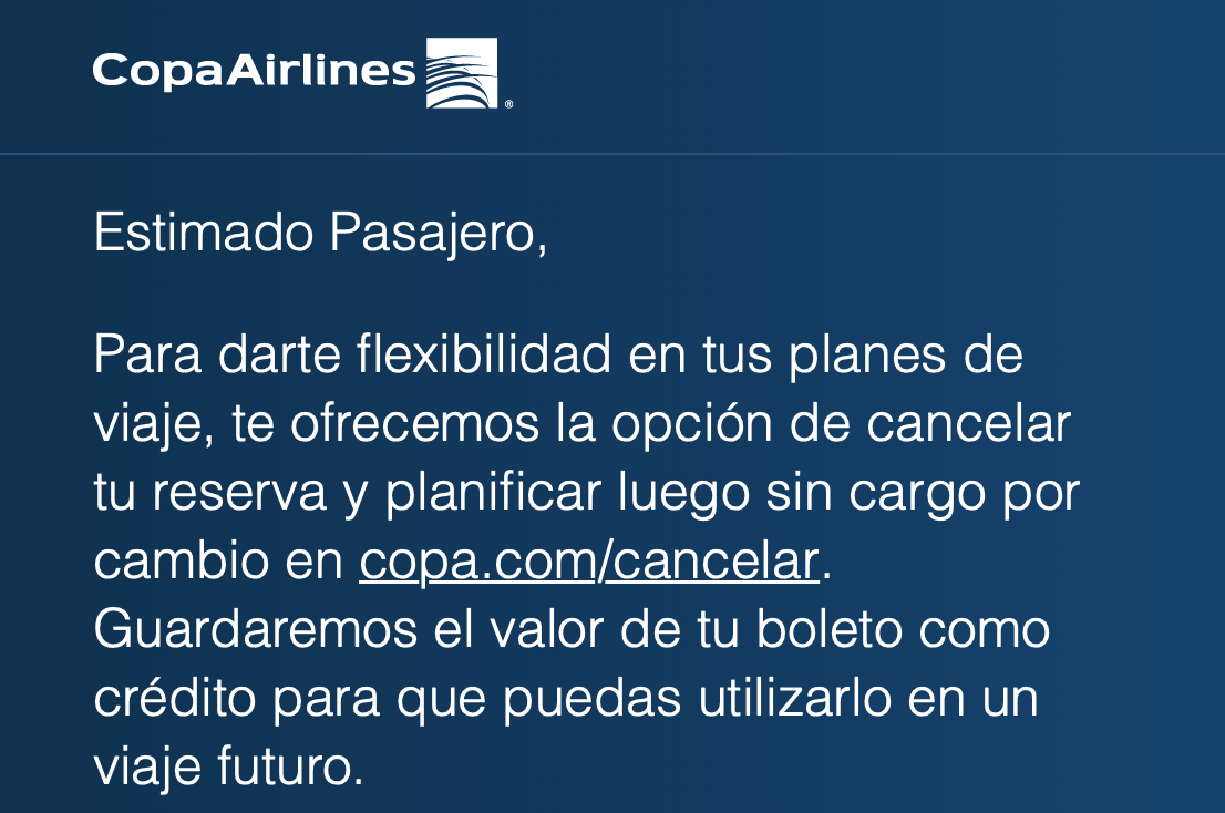 Copa Airlines email