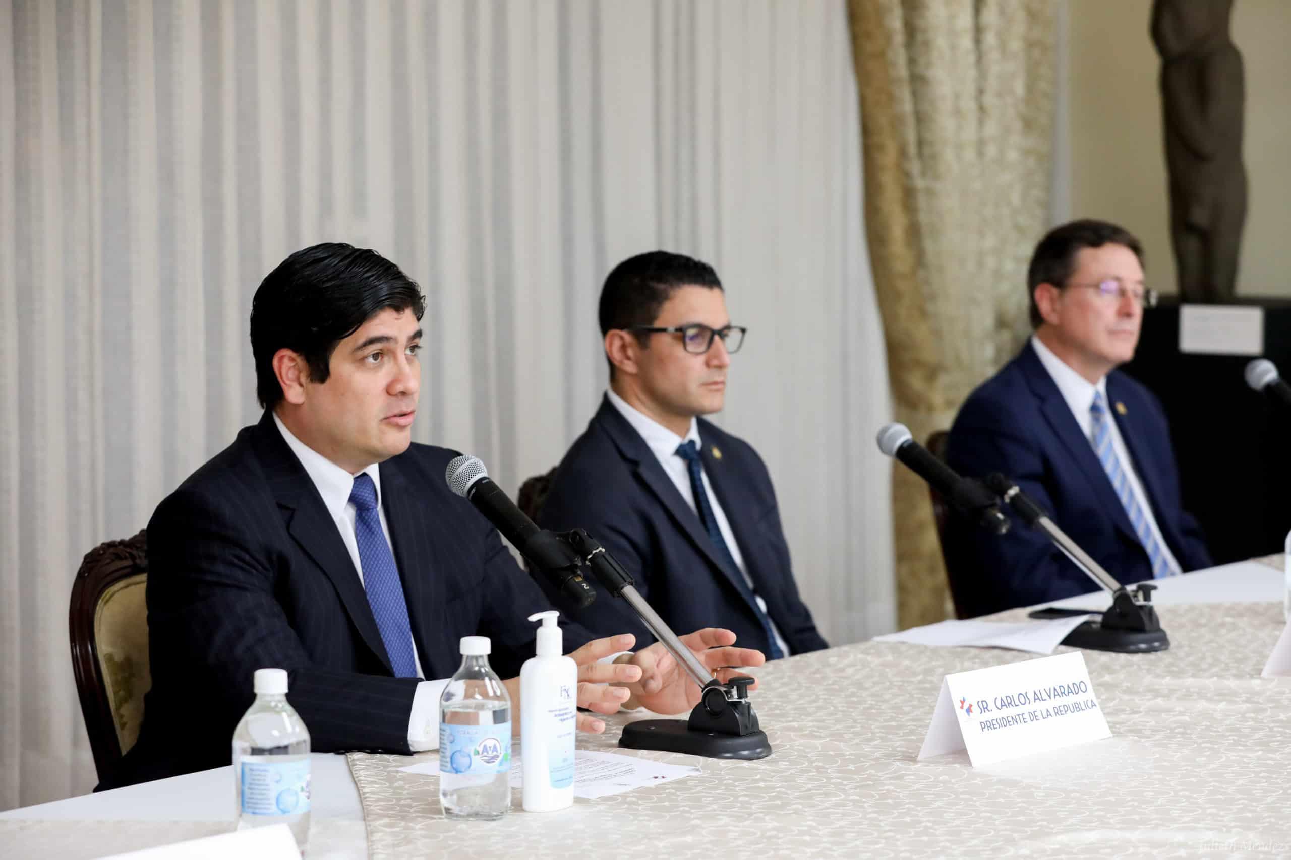 President Carlos Alvarado and Daniel Salas