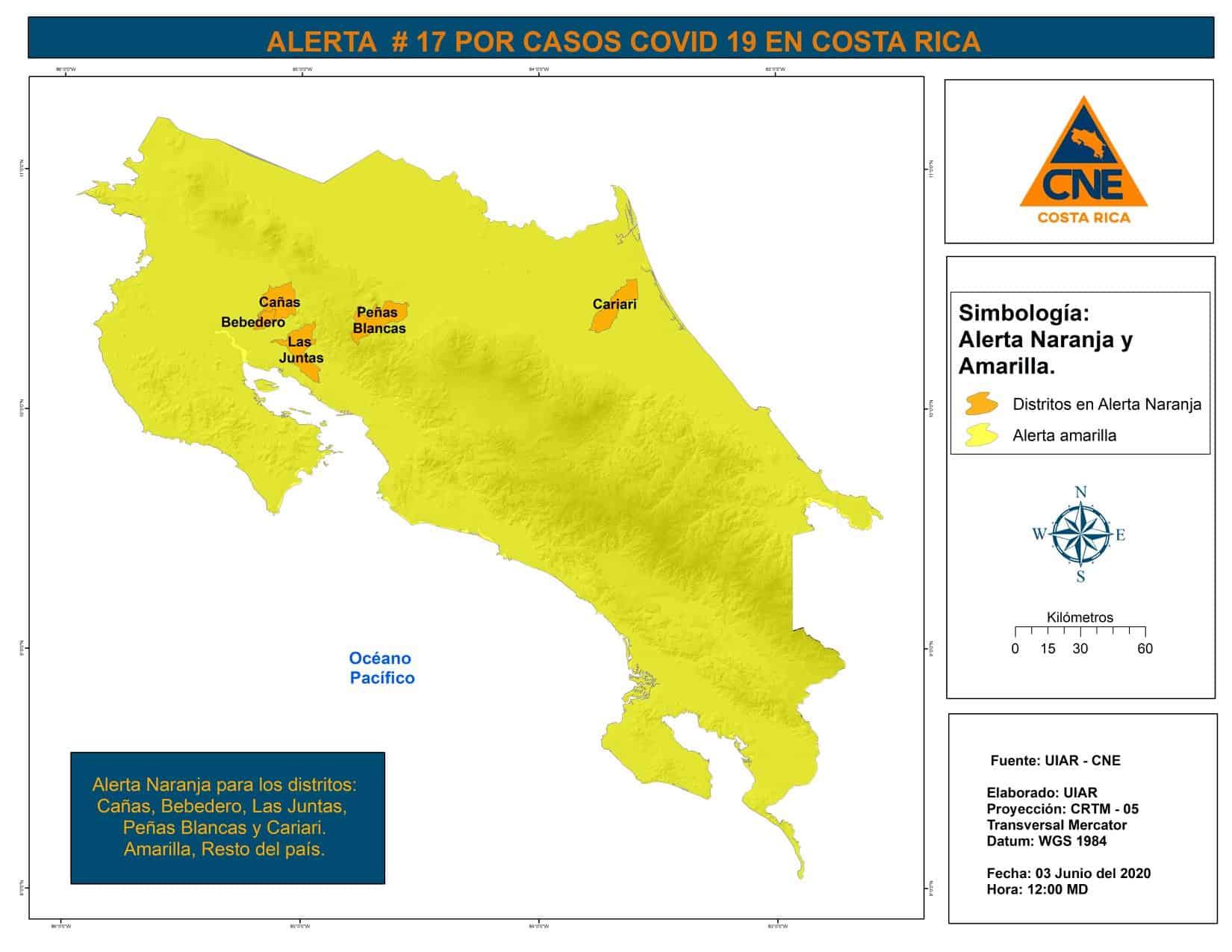 Costa Rica coronavirus orange alert