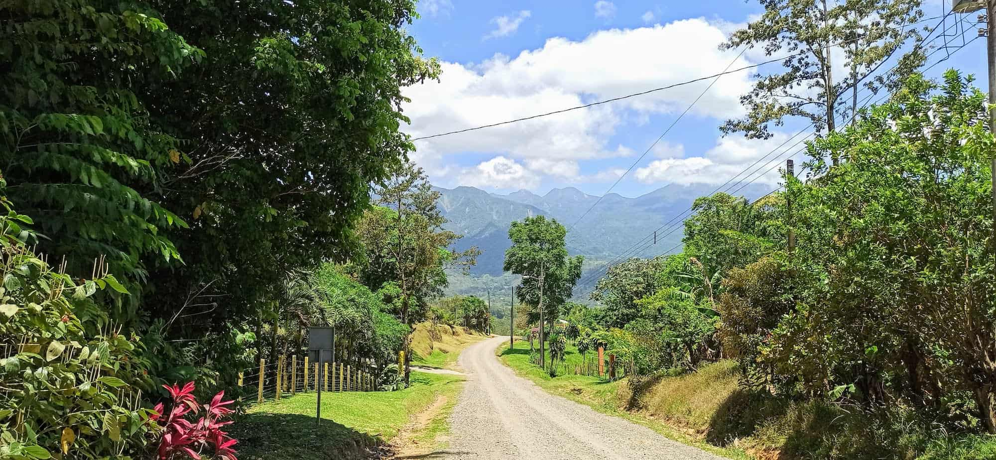 Road outside Casitas Tenorio in Bijagua Costa Rica