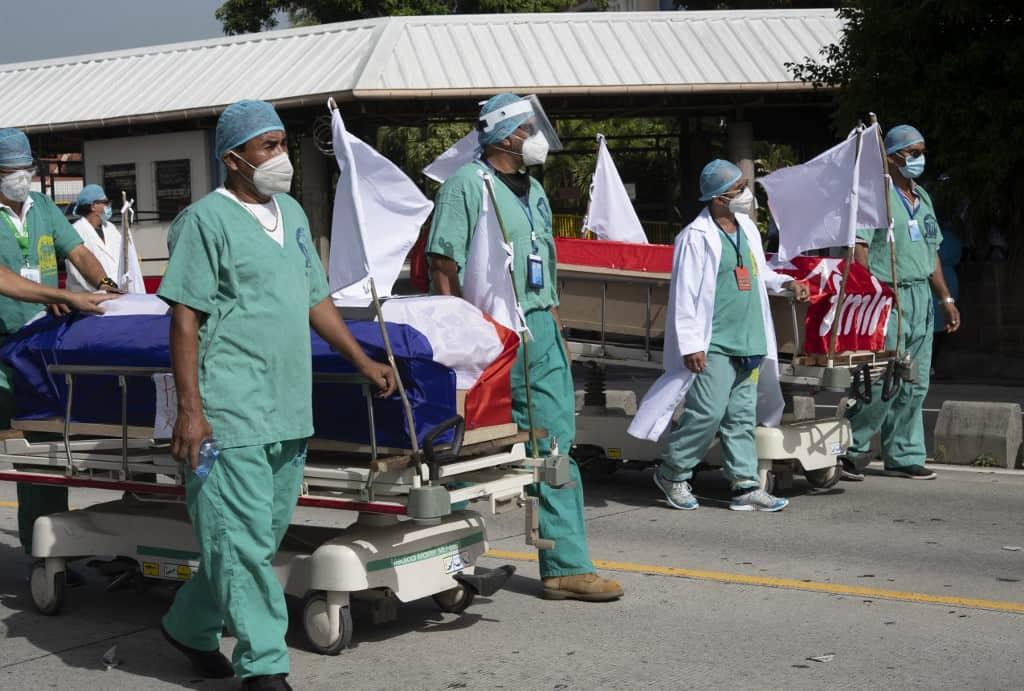 El Salvador coronavirus quarantine protest