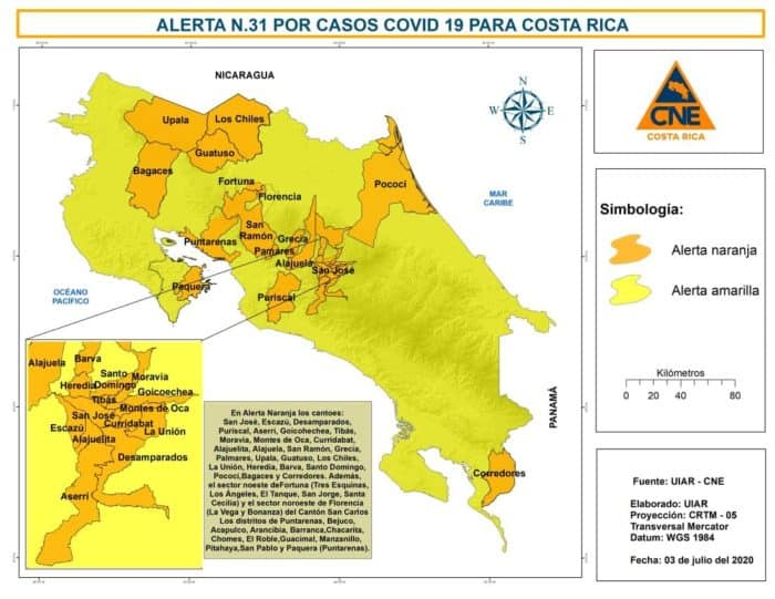 Costa Rica expands vehicular restrictions, places much of GAM under orange alert