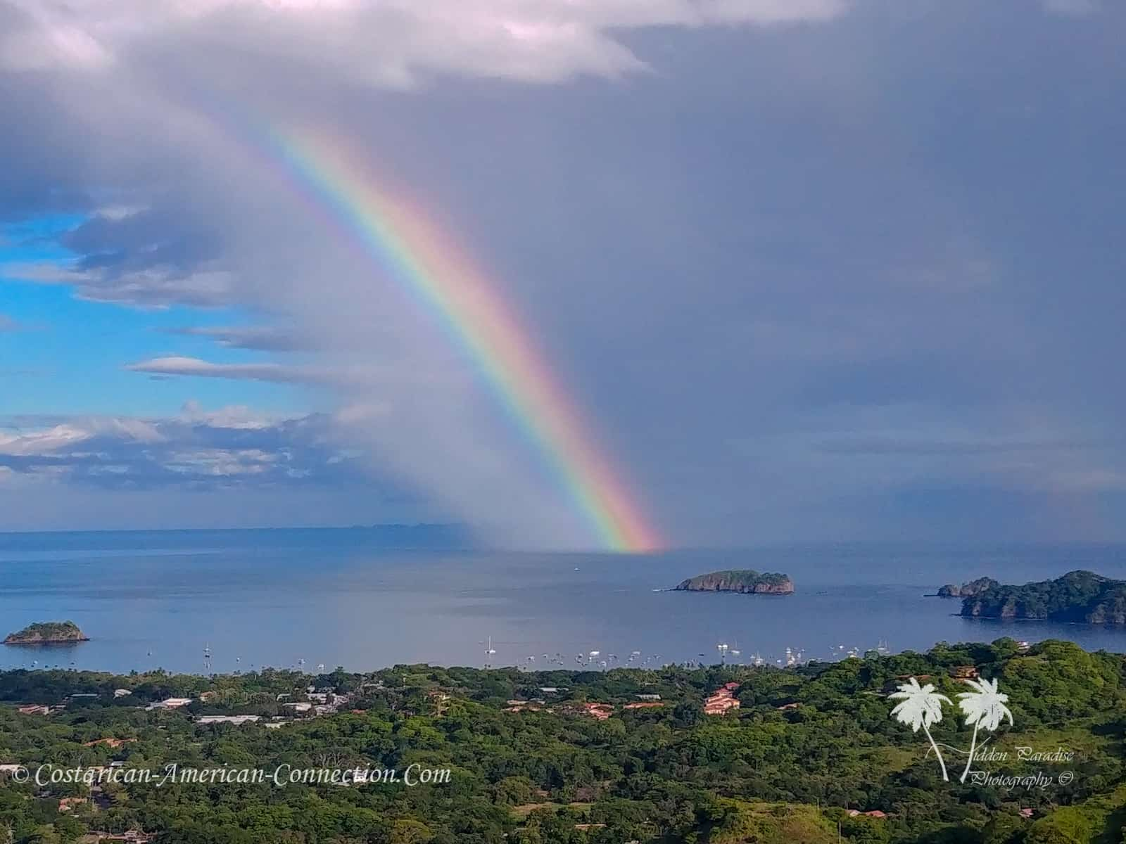 Rainbow over the Pacific Ocean in Guanacaste