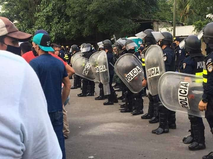 Nicaraguan authorities preventing the entry of Nicaraguan citizens due to health measures related to the coronavirus pandemic on July 22, 2020.