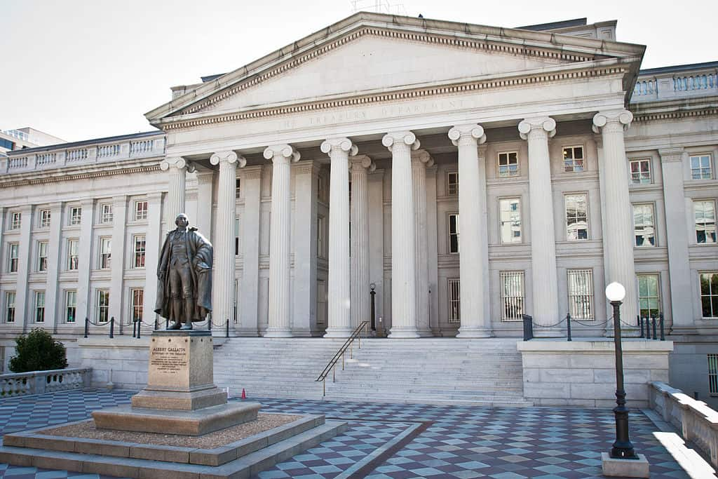 The United States Treasury in Washington D.C.