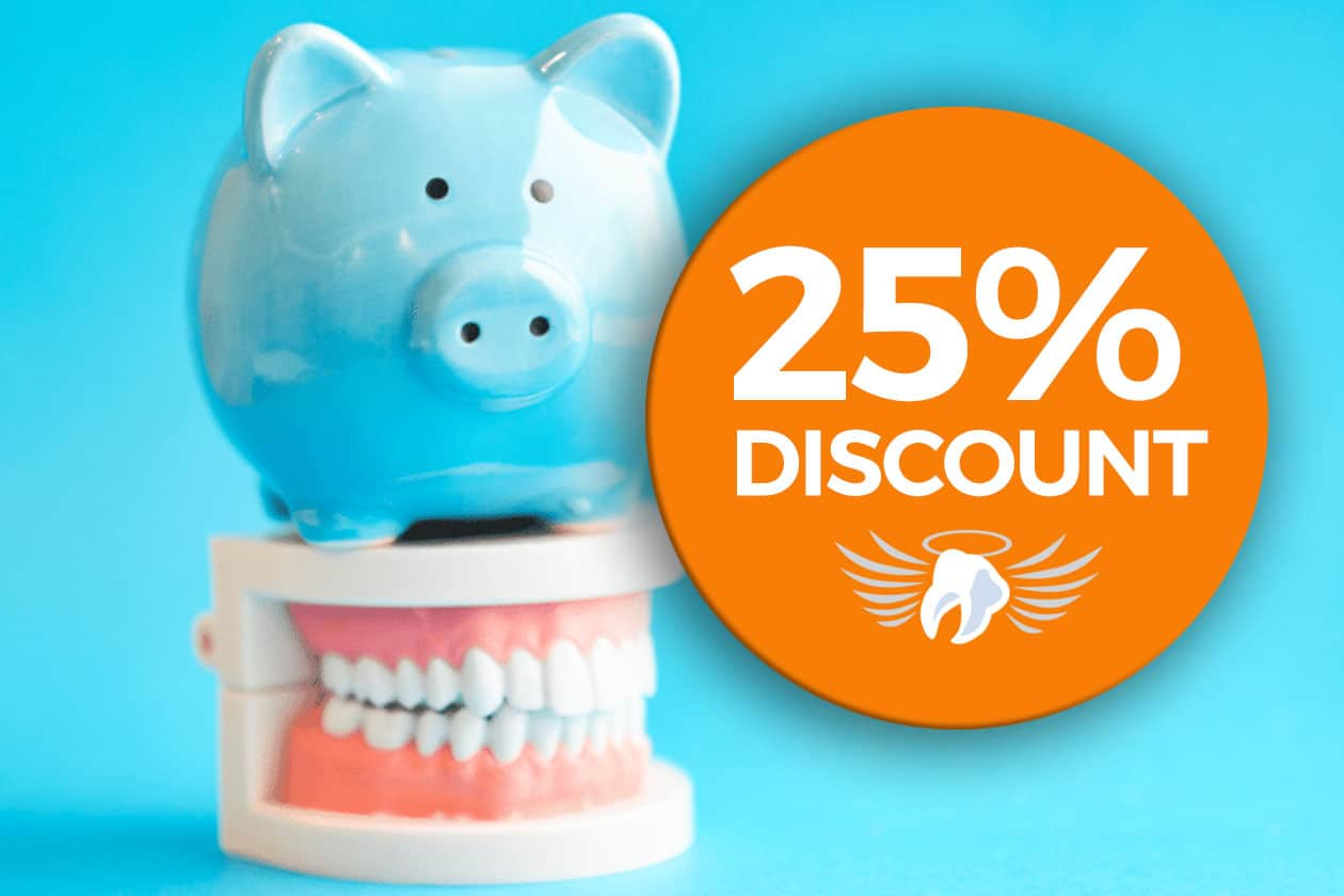 Get a 25% discount on dental care this year