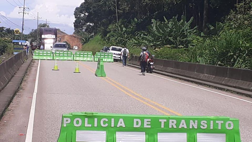 A damaged bridge over the Coronado River in Puerto Cortés of Osa, Puntarenas.