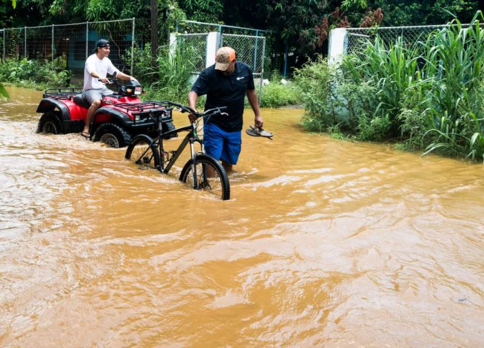 Heavy rains provoked flooding in Guanacaste the week of August 24, 2020.