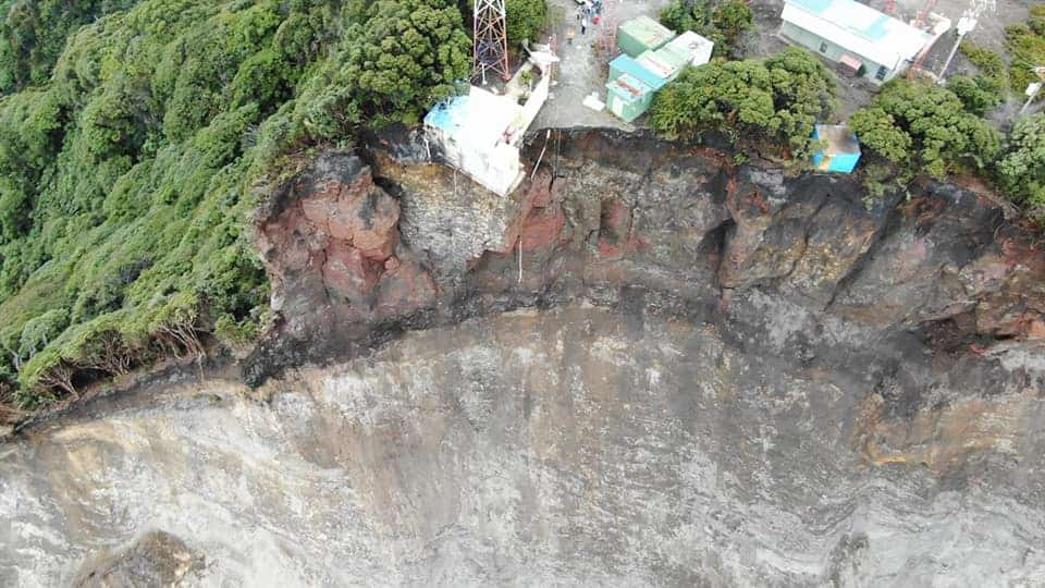 A photo showing the results of a landslide on Irazú Volcano in Costa Rica on August 26, 2020.
