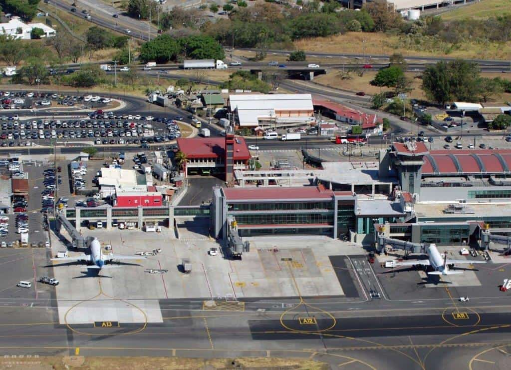 Juan Santamaría International Airport in Alajuela, Costa Rica