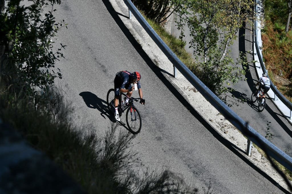Team Ineos rider Costa Rica's Andrey Amador rides during the 2nd stage of the 107th edition of the Tour de France cycling race, 187 km between Nice and Nice, on August 30, 2020.