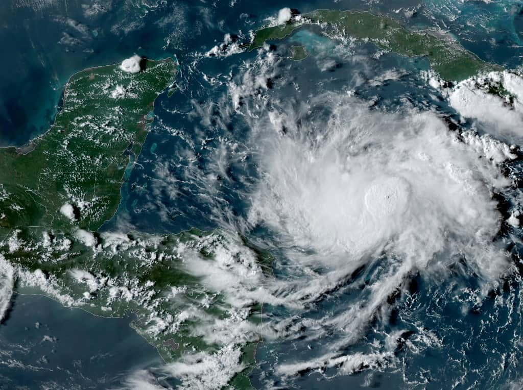 "Nana will pass near the coast of Honduras on September 2, before intensifying and reaching Belize one day later, the Miami-based National Hurricane Center said. ""Strengthening is forecast during the next 48 hours, and Nana could become a hurricane just prior to landfall on Thursday,"" the NHC said in its latest advisory."