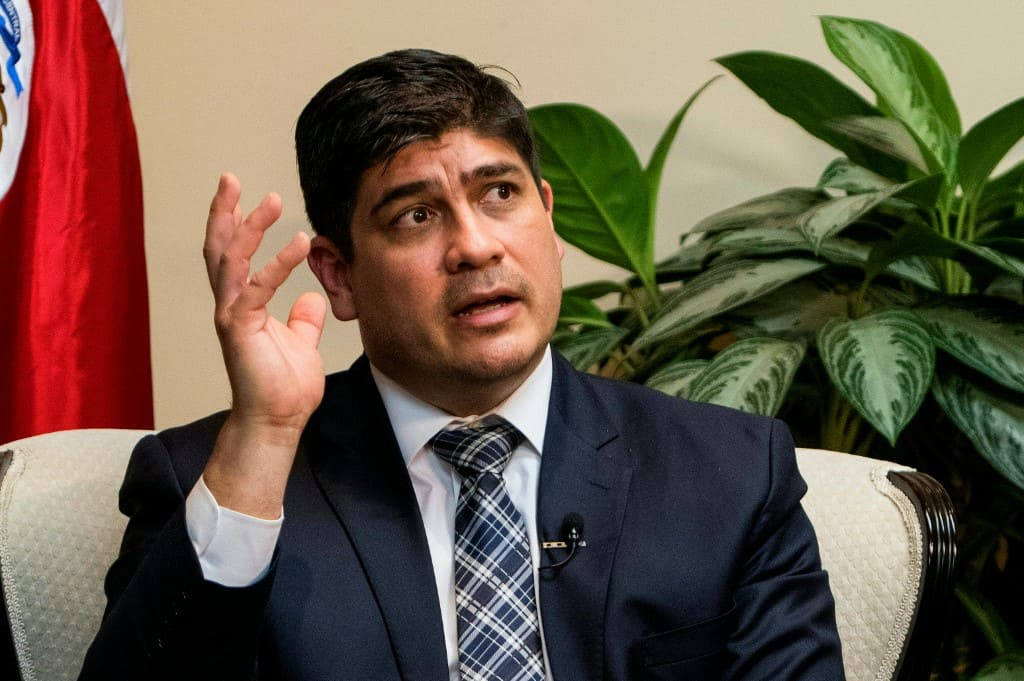 Costa Rican President Carlos Alvarado