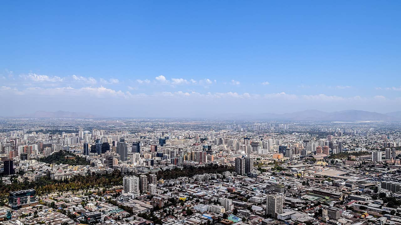 Panoramic view of Santiago, Chile. Photo for illustrative purposes.