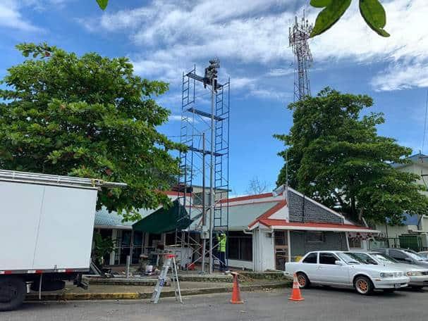 Tsunami alert siren in Costa Rica.