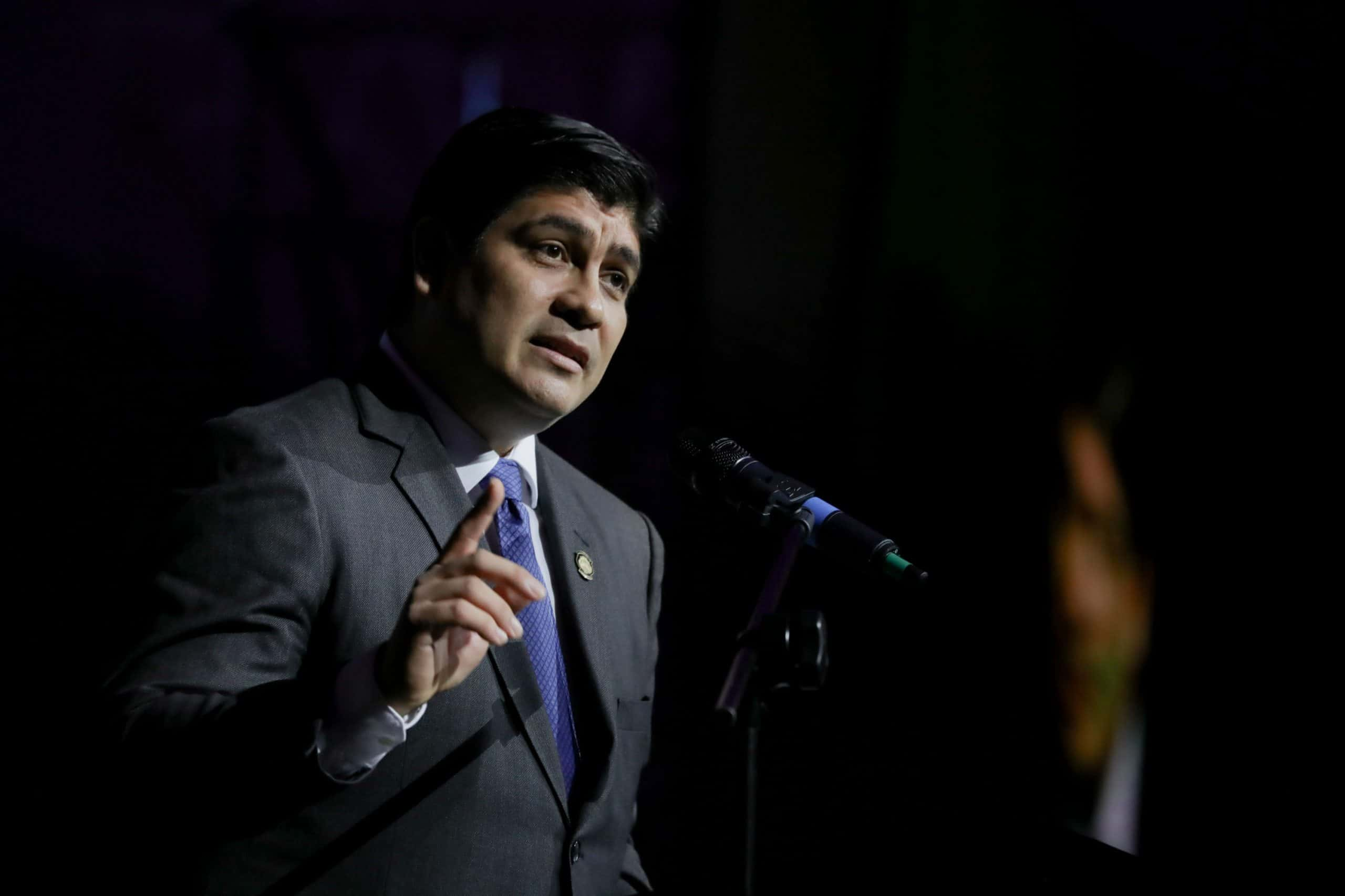 Costa Rican president Carlos Alvarado.