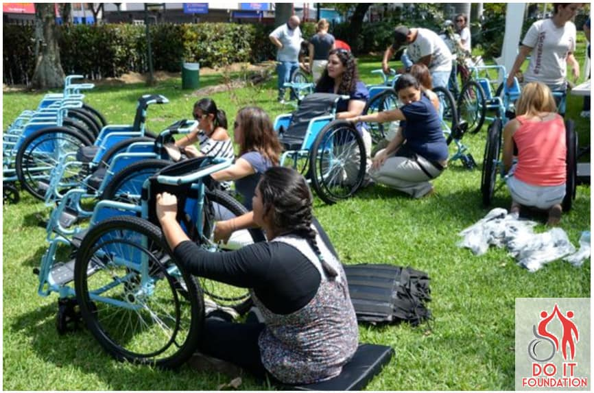 The Do It Foundation donating wheelchairs in Costa Rica.