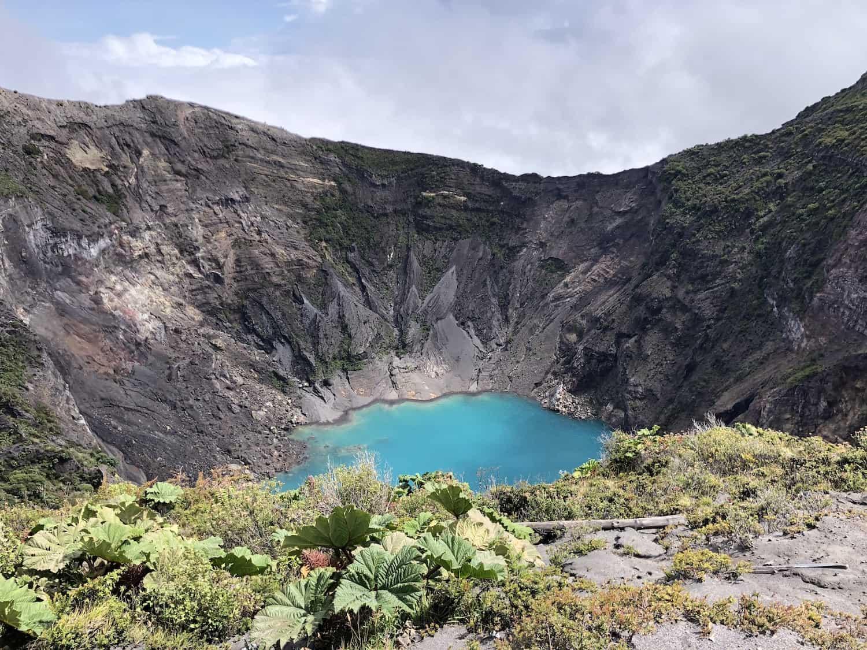 Crater of Irazú Volcano in 2018.