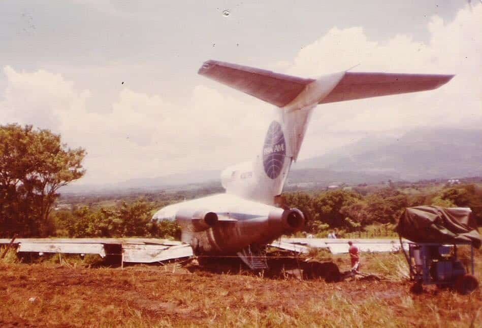 In 1980, Pan Am Flight 421 crashed short of the runway in Costa Rica.