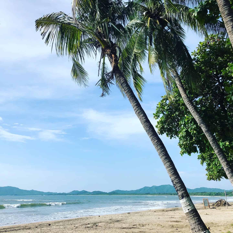 The beach in Tamarindo, Guanacaste.