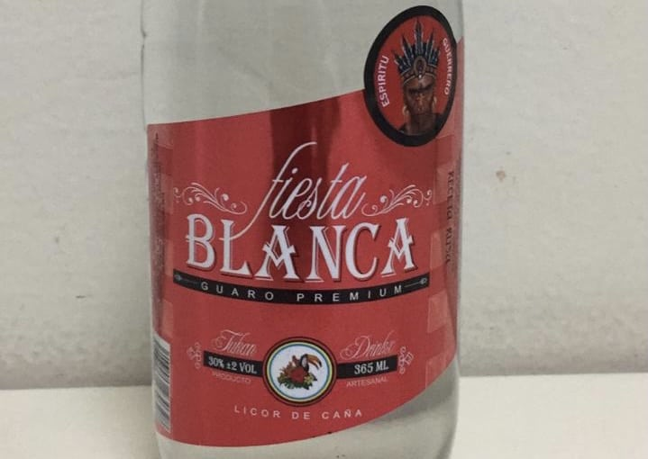 Guaro Fiesta Blanca, a brand suspected of being tainted with methanol.