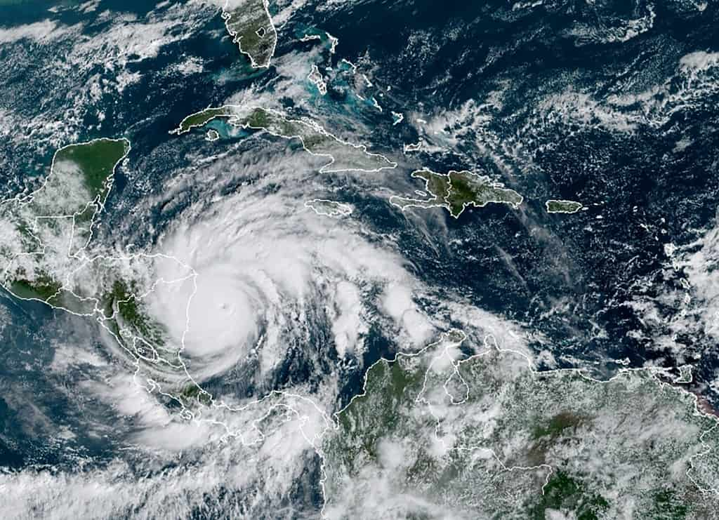 Hurricane Iota approaches Central America