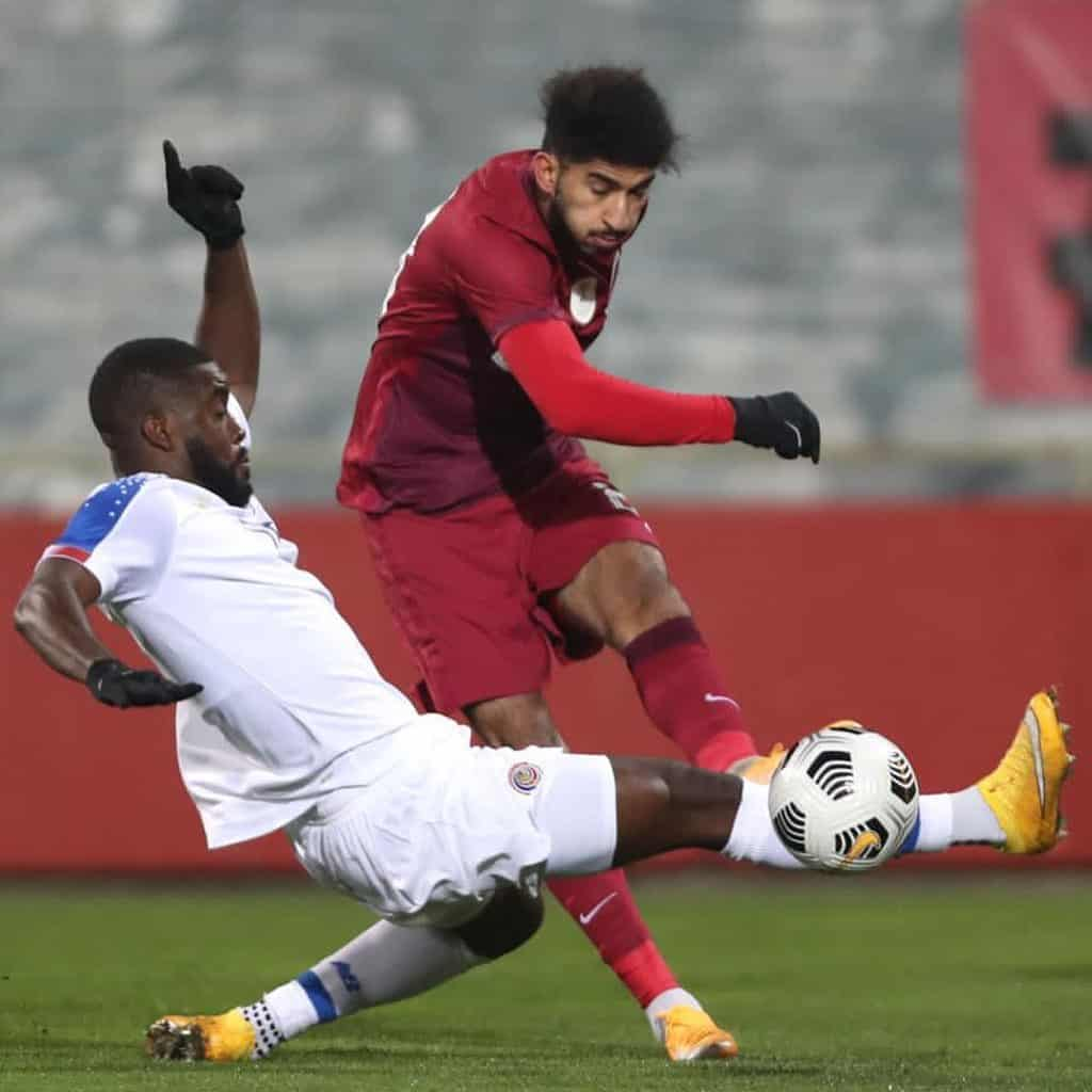 Joel Campbell during Costa Rica's match against Qatar on November 13, 2020.