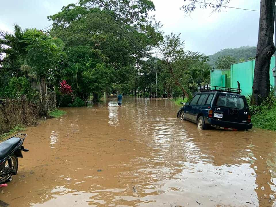 The indirect effects of Hurricane Eta caused flooding in Costa Rica on November 4, 2020.