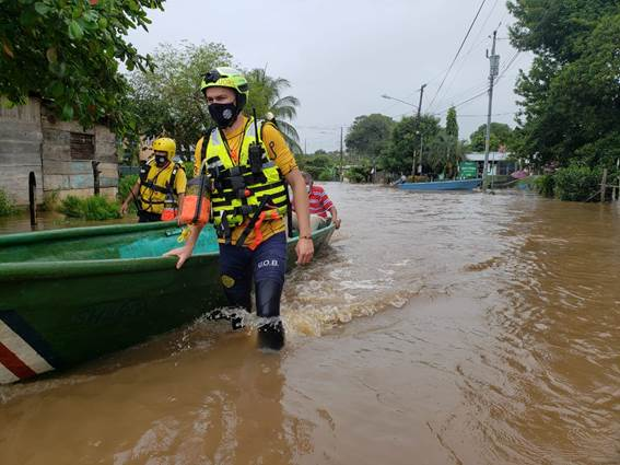 Emergency responders respond to Hurricane Eta flooding in Costa Rica