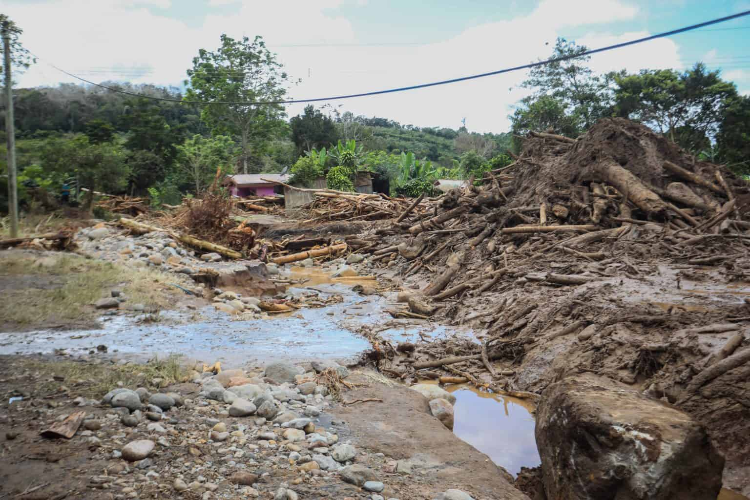 Landslides and flooding related to Hurricane Eta damaged houses and infrastructure in Costa Rica's Southern Zone.