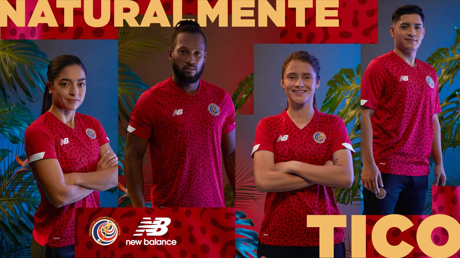 Costa Rica's new soccer uniforms were unveiled on December 10, 2020.