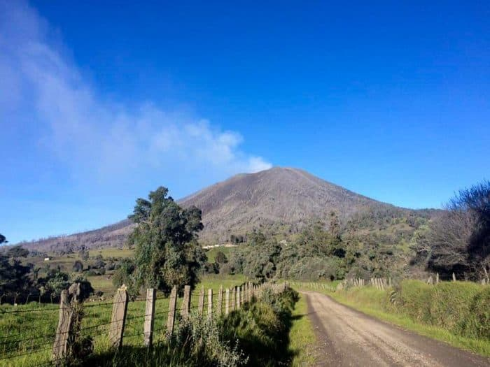 Turrialba Volcano on a clear day.