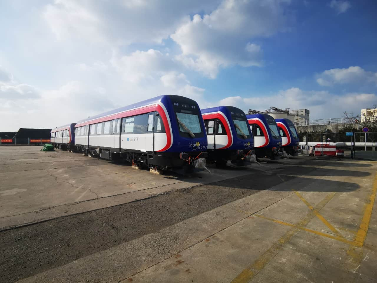 New diesel trains with better capacity and air condition are en route to Costa Rica.