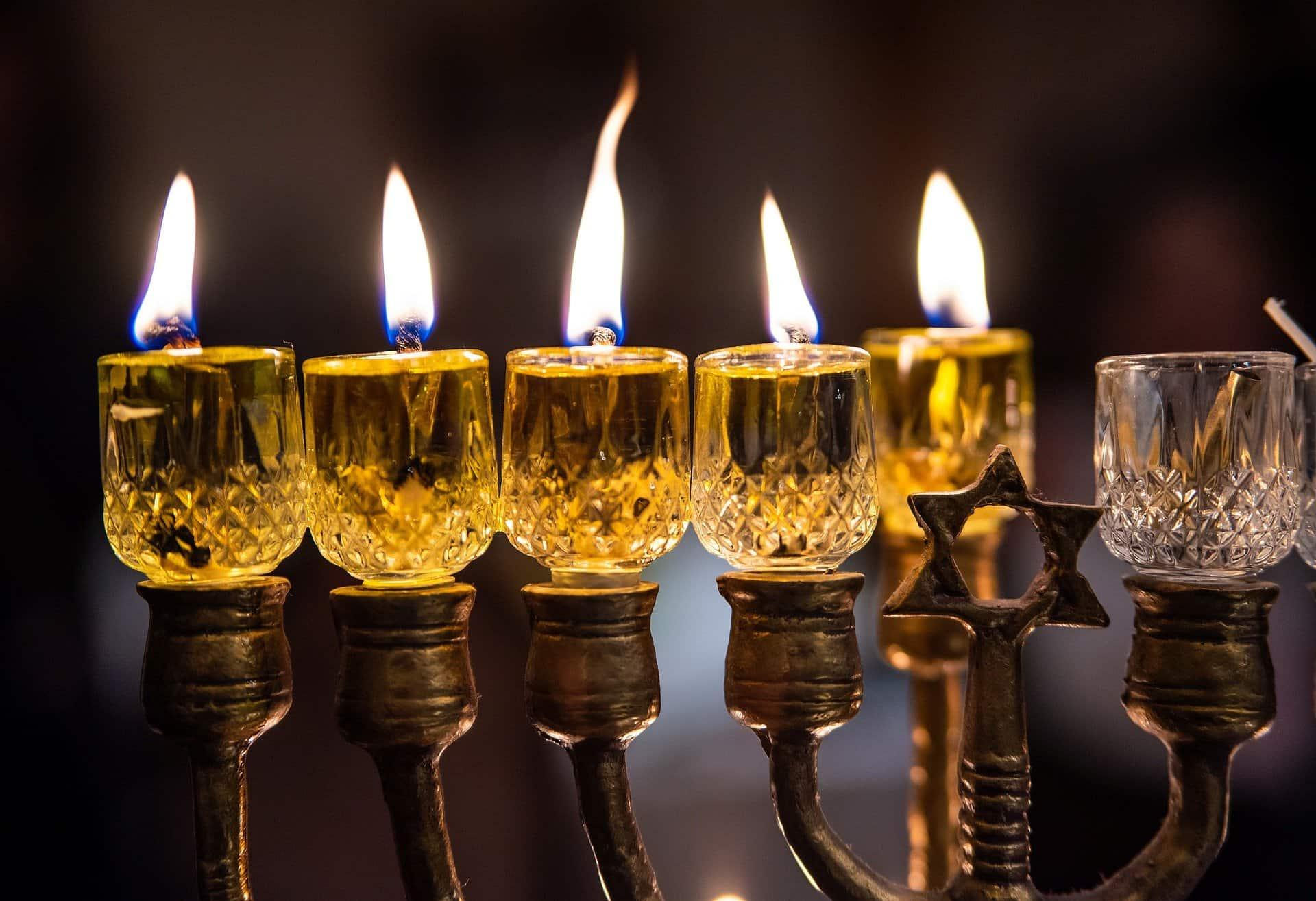 A Hanukkah menorah. Photo for illustrative purposes.