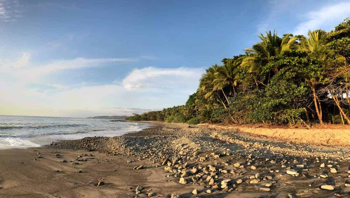 A beach in Malpaís, Puntarenas, Costa Rica in December 2020.
