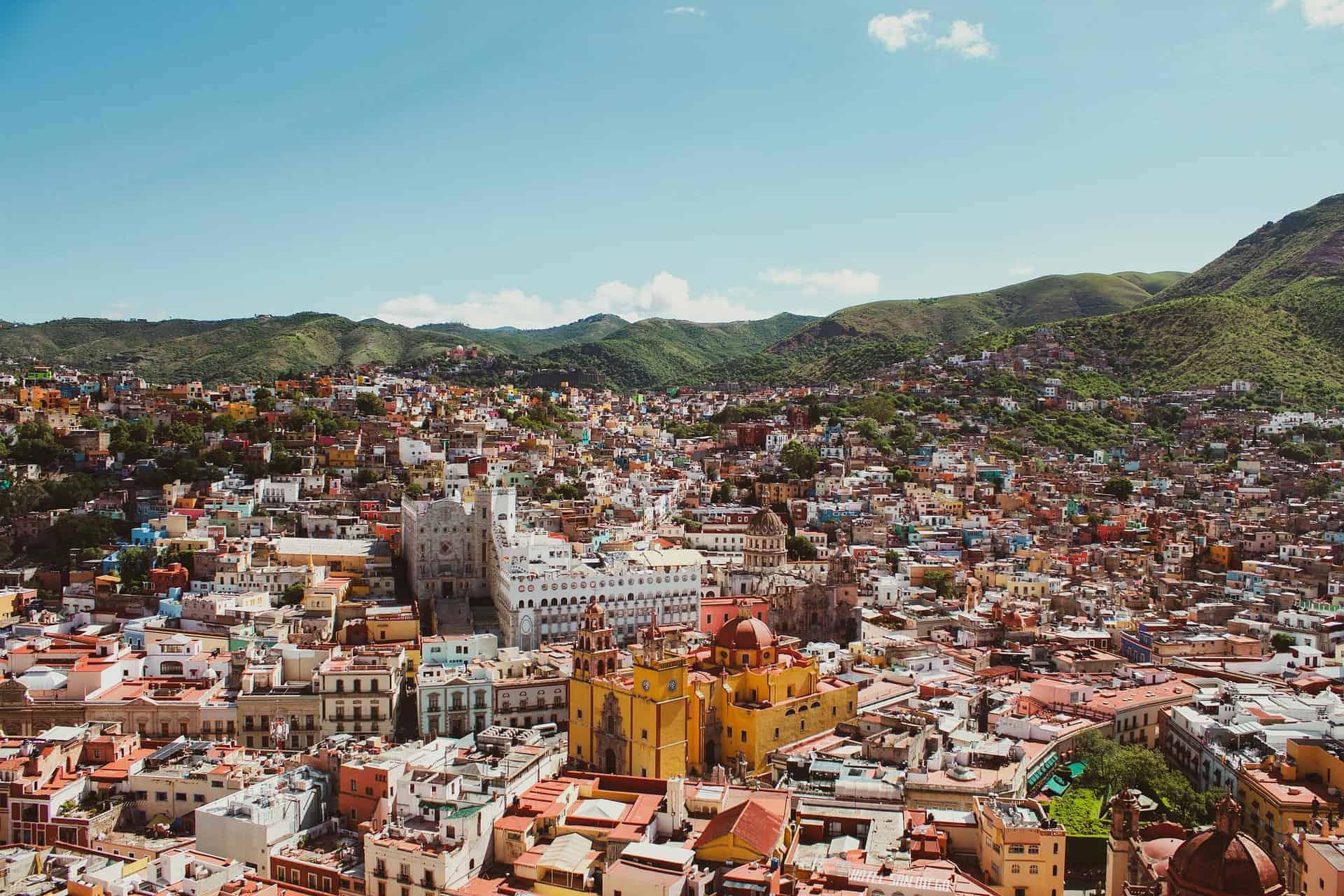 Guanajuato, a city in central Mexico.
