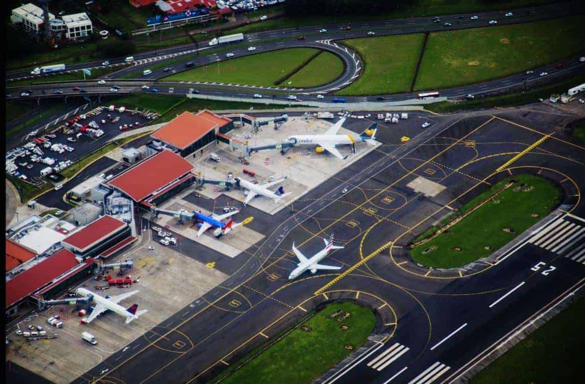 Costa Rica's largest airport, Juan Santamaría International near San José.