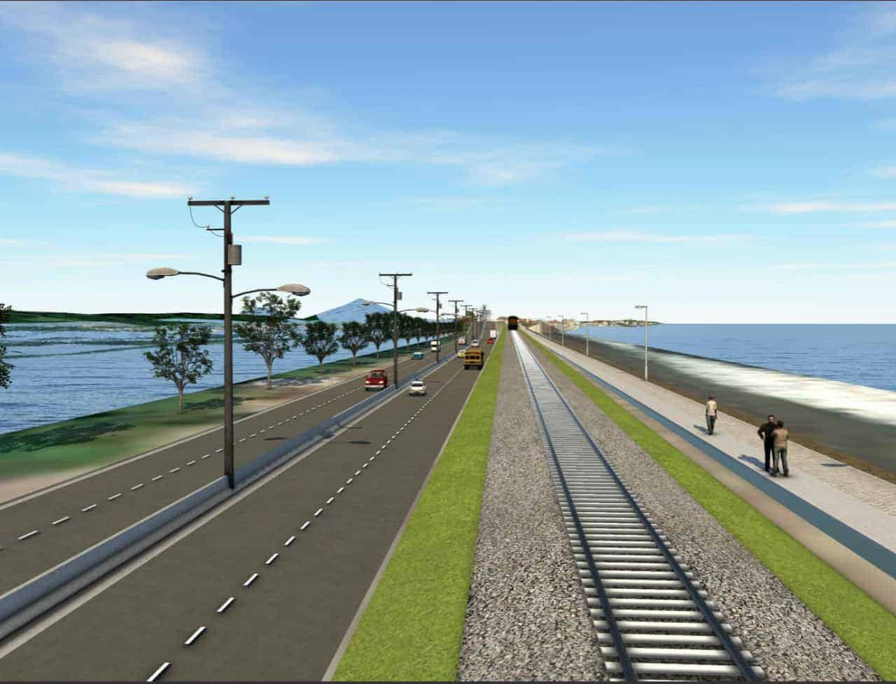 Artist's rendition of the highway expansion in Puntarenas