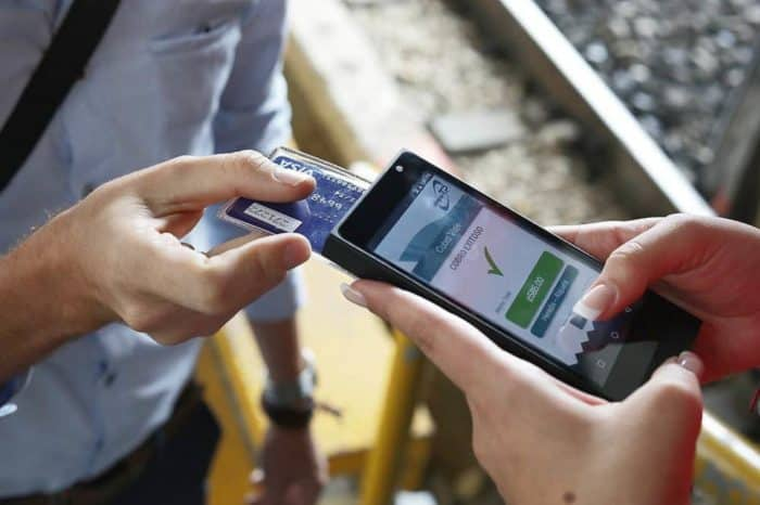Contactless train payments