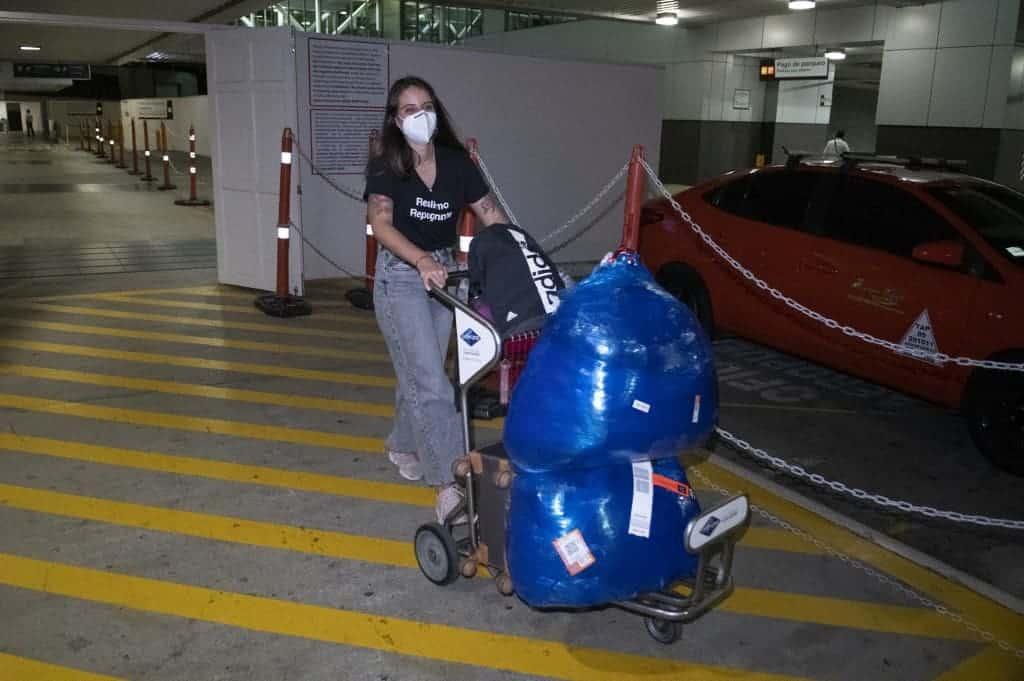 Cuban journalist Karla Perez arrives at the Juan Santa Maria airport in Alajuela, Costa Rica, March 18, 2021.