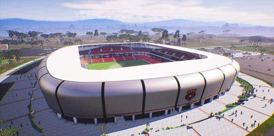 Rendering of Alajuelene's proposed stadium, to open in 2025.