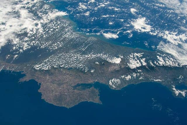 Costa Rica as seen from the International Space Station.