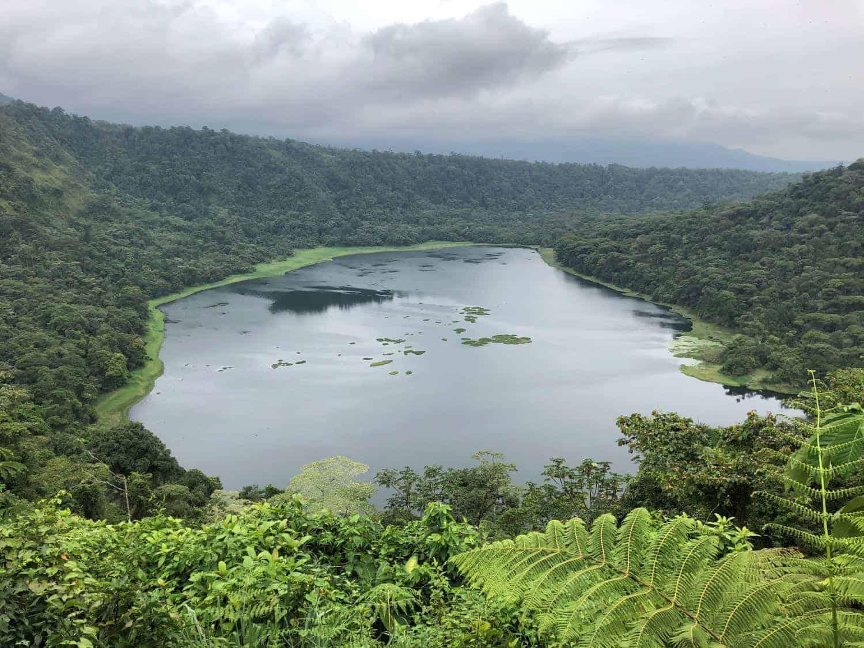 Laguna Hule, a picturesque freshwater lake in Rio Cuarto, Alajuela, Costa Rica.