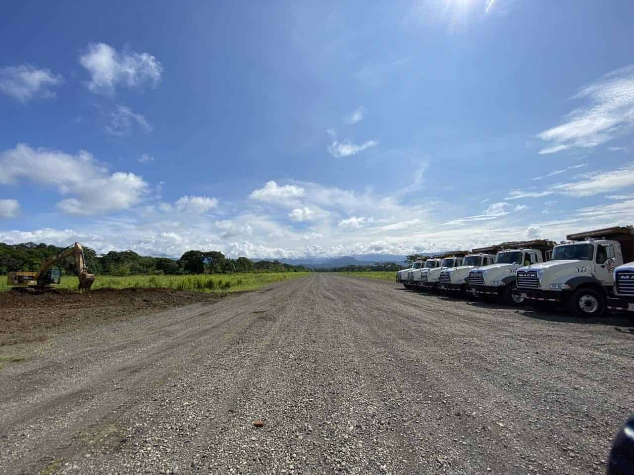 The airstrip at La Managua Airport in Quepos, Puntarenas, Costa Rica.