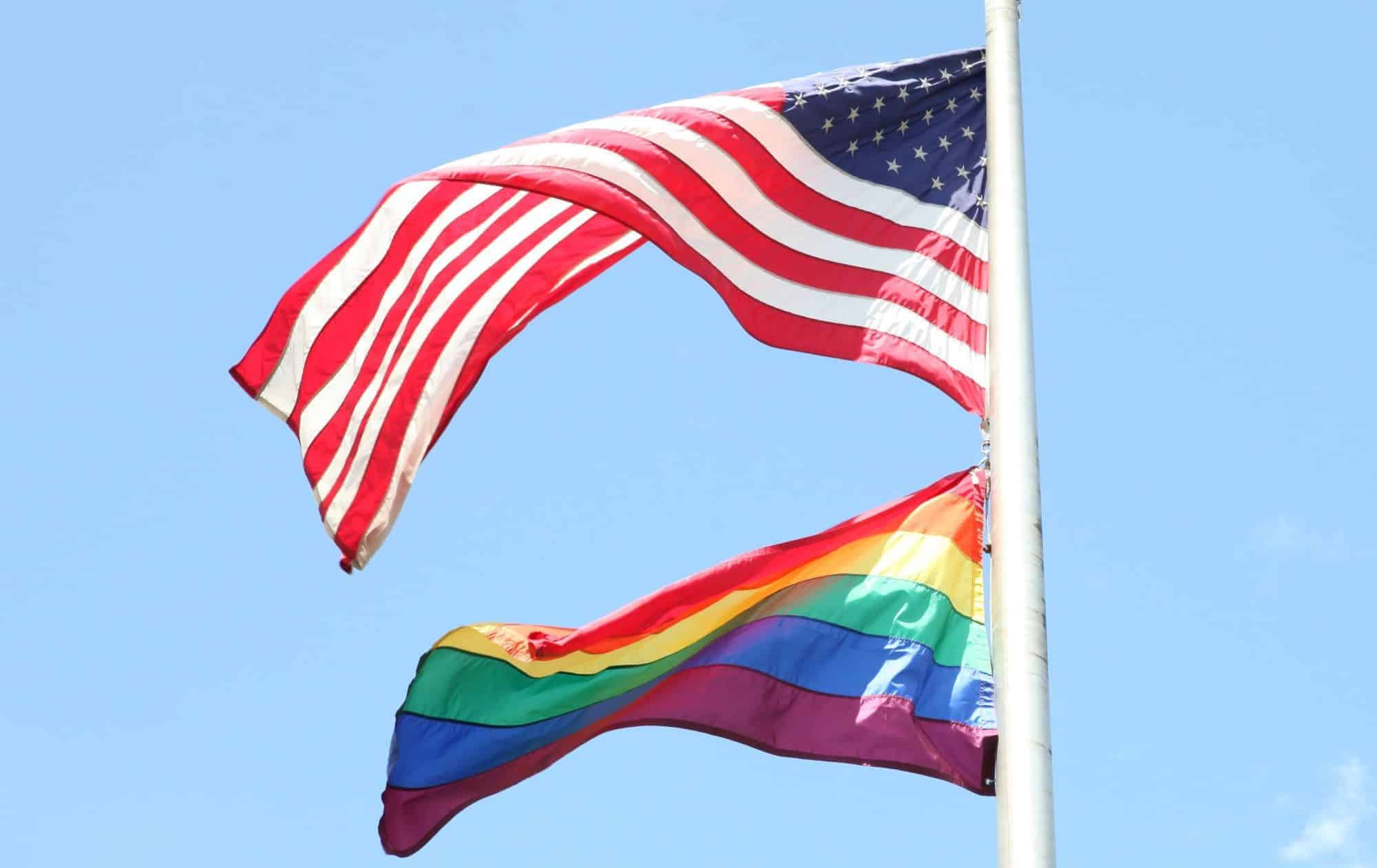 The Pride Flag at the U.S. Embassy in San Jose, Costa Rica