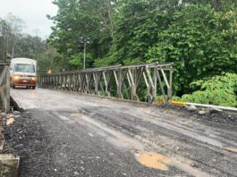 A Bailey bridge on Route 36 near Penshurst, Limon, Costa Rica.